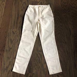 Escada High Waisted White Pants